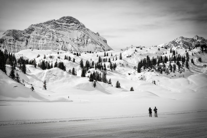Alps Black And White Cold Temperature Landscape Leisure Activity Mountain Mountain Range Non-urban Scene Season  Snow Tranquility Vacations Winter Slope