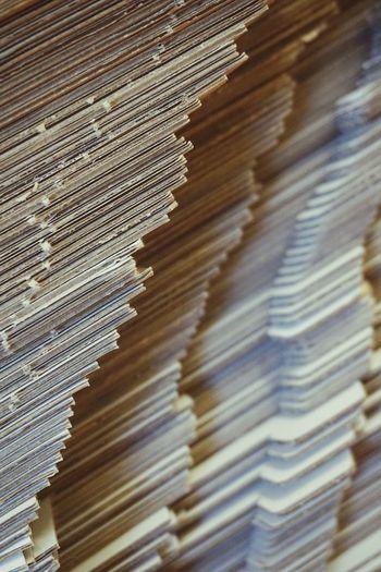 Full frame shot of stacked stack