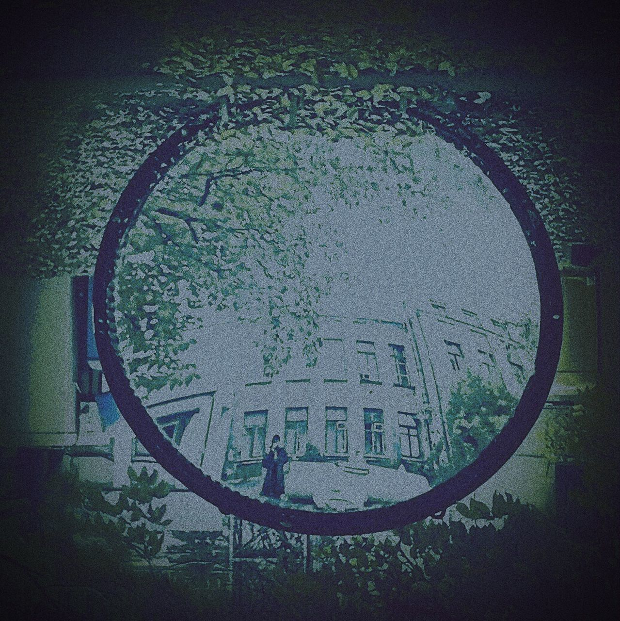 circle, window, day, architecture, built structure, no people, outdoors, tree, water
