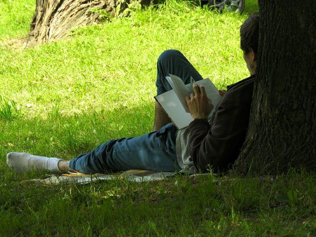 Reading A Book Park Big City Life Tavrichesky Garden Summer Views Sunny Day 🌞 Sankt-peterburg Russia Showcase July Hidden Gems