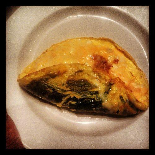 Breakfast @ Greektown Bistro Spinach omelette with Feta!