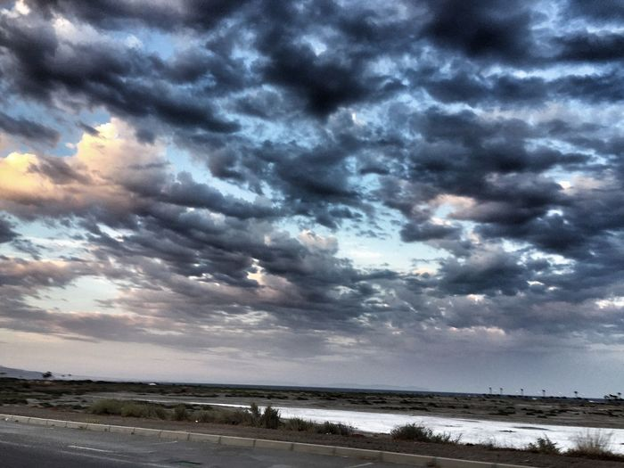 Cloud - Sky Sky Sea Nature Weather Water Beauty In Nature Scenics Beach Tranquil Scene Dramatic Sky Tranquility No People Outdoors Horizon Over Water Storm Cloud Day Driving
