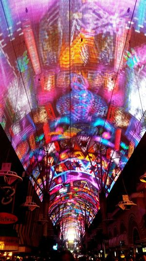 Vegas  Fremont Street Fremontstreetexperience Colors Color Explosion Abstract