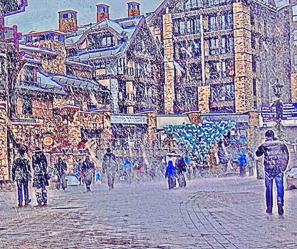 Architecture Day Multi Colored Outdoors People Snowing The Street Photographer - 2017 EyeEm Awards Travel Destinations Vail  Vail Colorado Vail,co