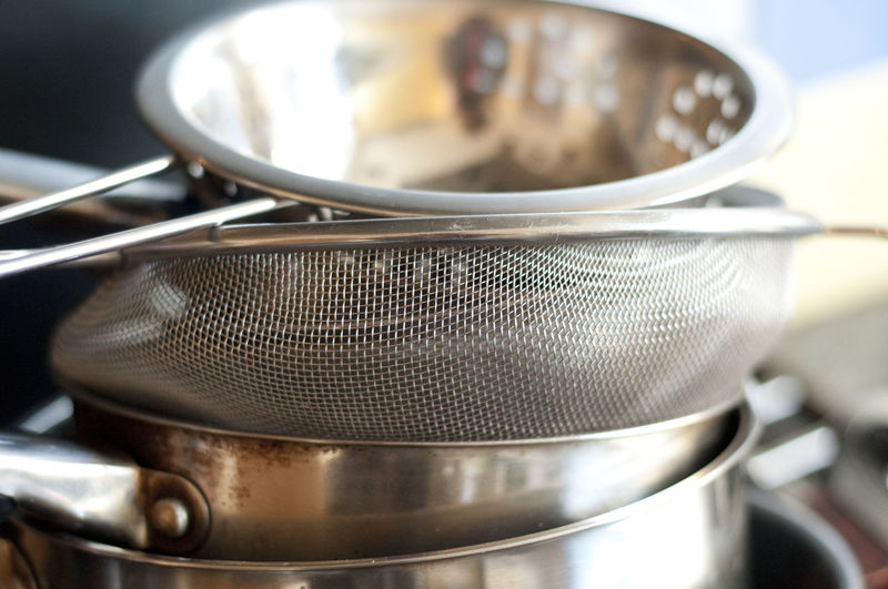 Close-Up Of Cooking Utensils In Kitchen