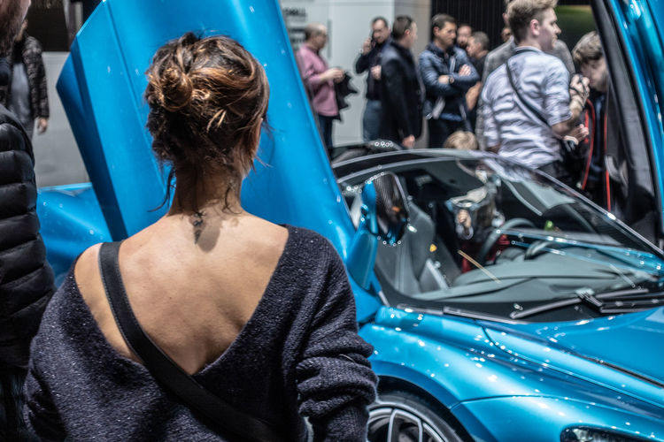 International Women's Day 2019 Mode Of Transportation Car Real People Motor Vehicle Transportation Adult Women Lifestyles Land Vehicle People Blue Focus On Foreground Standing Hair Luxury Leisure Activity Hairstyle Tattoo Neck