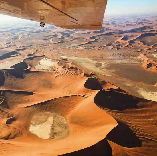 Aerial view of idyllic desert