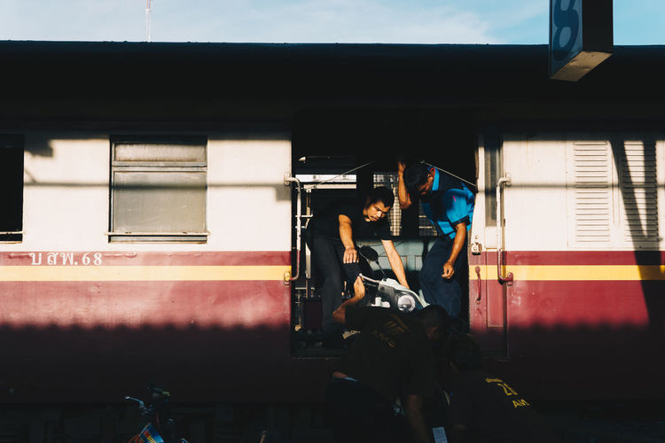 Men Mode Of Transportation Passenger Public Transportation Rail Transportation Railroad Station Real People Streetphotography Train Transportation Travel Window The Street Photographer - 2018 EyeEm Awards