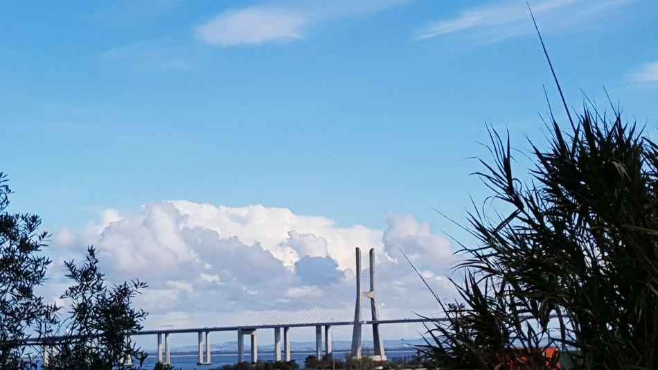 Ponte Vasco Da Gama Sky And Clouds
