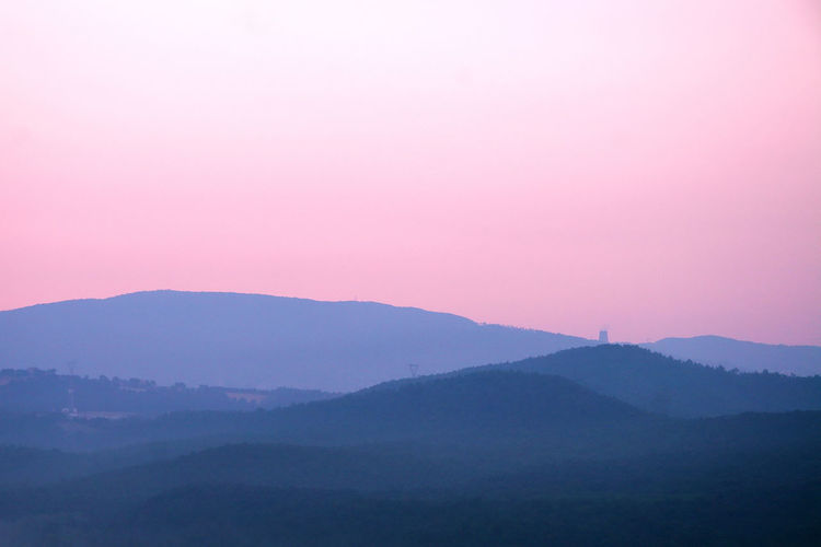Landscape in natural colors, no filters, no post-editing Copy Space EyeEmNewHere Beauty In Nature Environment Fog Land Landscape Morning Mountain Mountain Peak Mountain Range Nature No People Non-urban Scene Outdoors Pink Color Scenics - Nature Silhouette Sky Sunset Tranquil Scene Tranquility Twilight Wallpaper