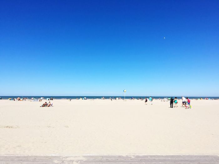 Beach at Deauville Blue Sky Summer ShotOnIphone ShotoniPhone6s Beach Sunshine Eyeemphoto Attphotos Sunny Shot On IPhone 6s