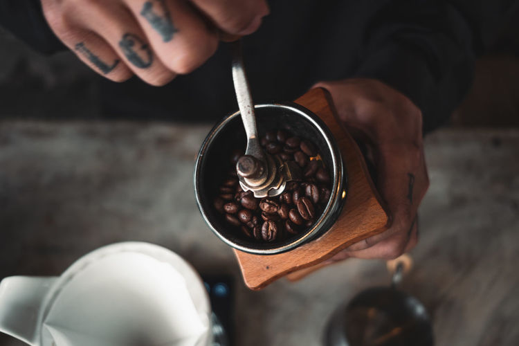 Put a drip coffee at the counter