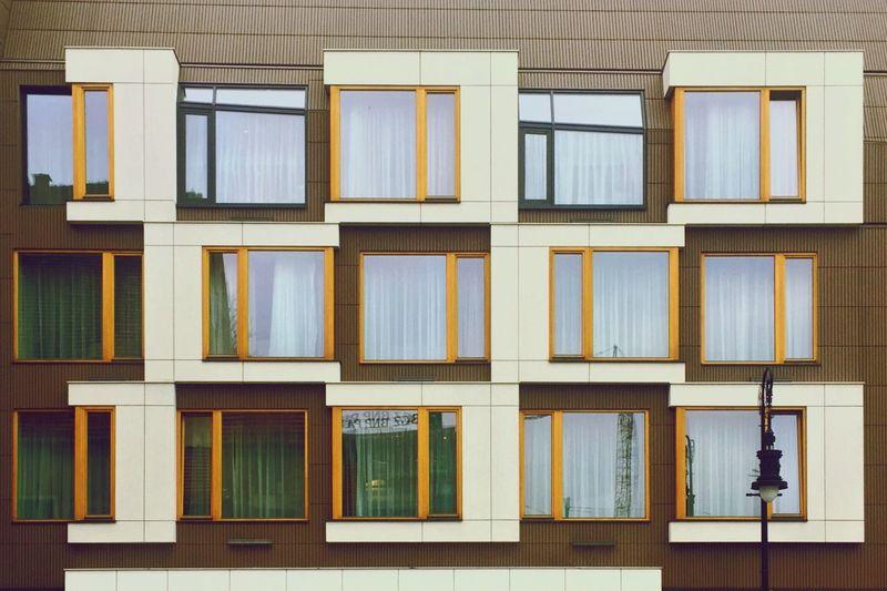Full frame shot of multi colored windows