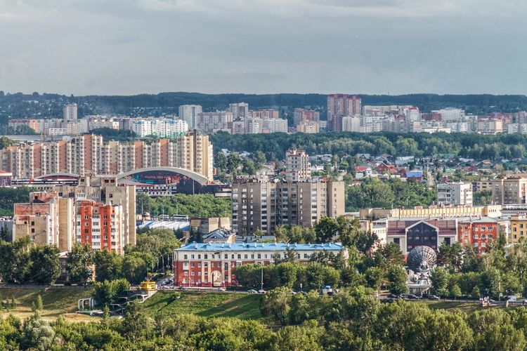 Lifted View Kemerovo Siberia Landscape Summer Summertime Cityscape Urban Skyline City Architecture Downtown District Outdoors No People Day