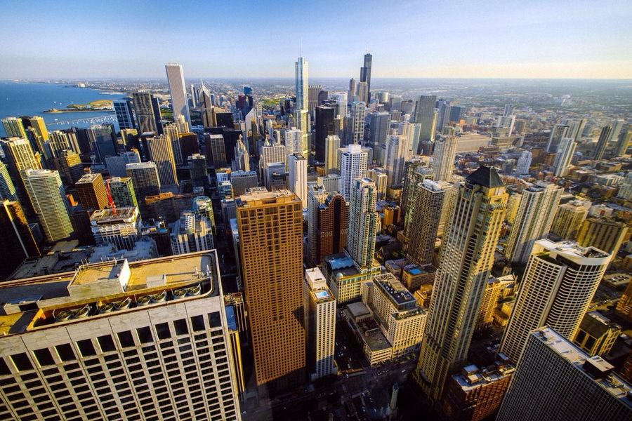 …view of Chicago! Skyline Lookingdown