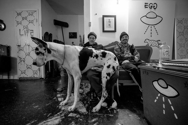 Dog's Life Brooklyn Guccighost Trap House Troubleandrew Craigwetherby chillin with Beau