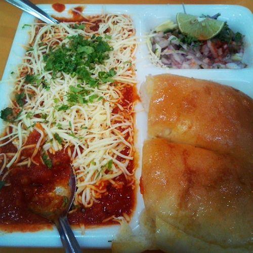 Cheese Pav Bhaji Indian mumbaifoodyumfoodyrandomclick