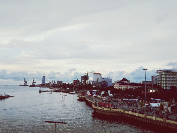 Flying High Cloud - Sky Sunset Business Finance And Industry Water Sky Sea Outdoors Nautical Vessel No People Nature Beauty In Nature Day Losari Beach