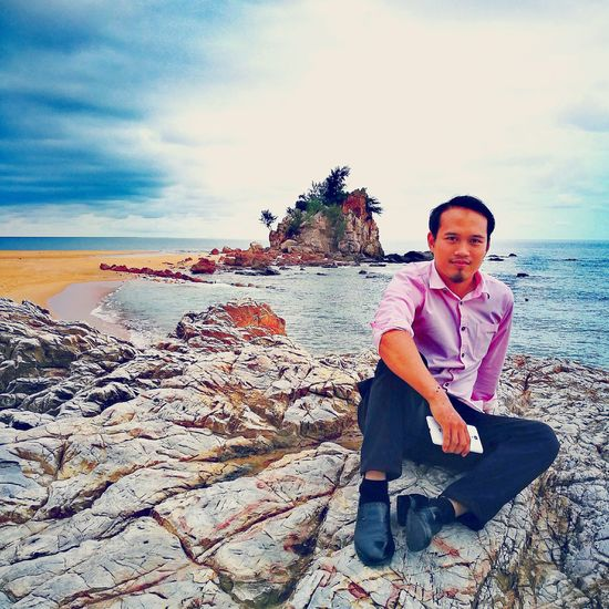 Looking At Camera Outdoors People Sand Beach Sea Terengganu Malaysia