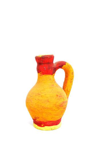 clay jug Aritsan Ceramic Jug Clay Jug Close-up Colorful Craft Hand Painted Hand Painted Pot No People Studio Shot Water Water Jug White Background
