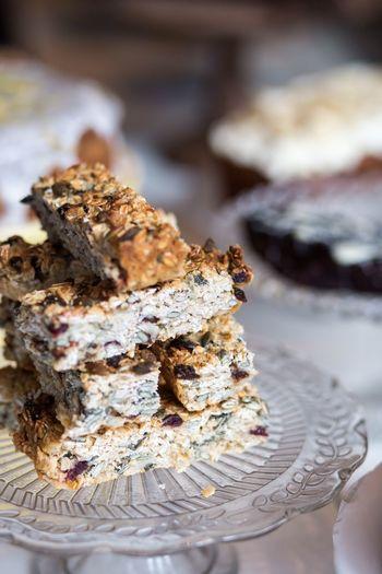Close-up of granola bars