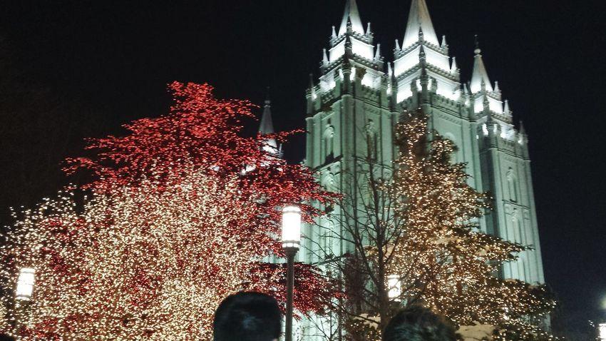 Salt Lake City Temple Square Christmas Lights Mormons