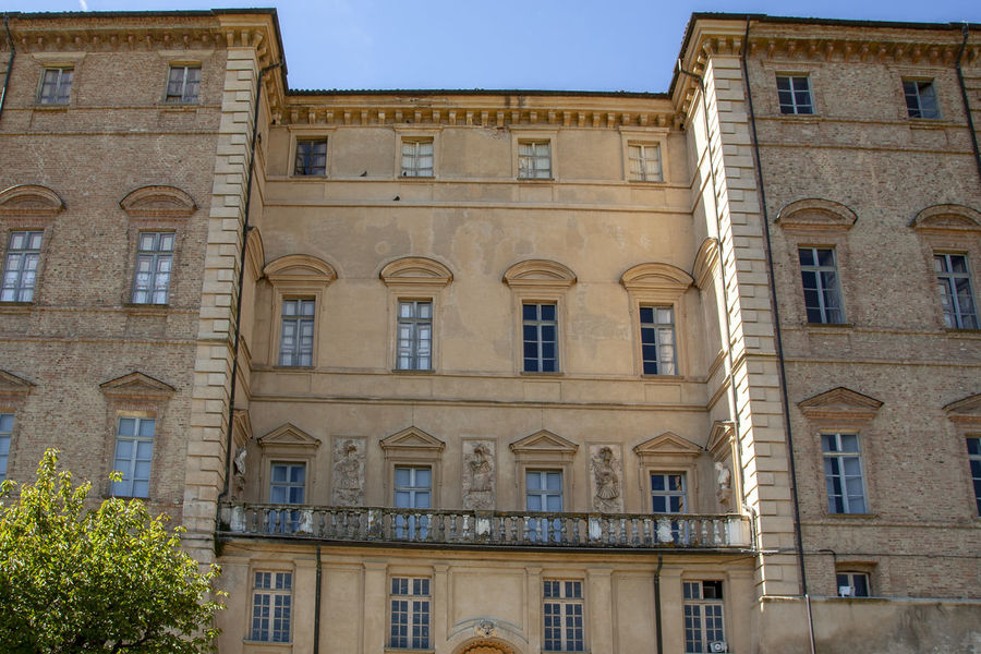 Architecture Window Building Exterior Built Structure Building Low Angle View No People Residential District Sky City Outdoors Nature The Past History Old Glass - Material Repetition Façade Arch Apartment Piedmont Italy Langhe Italy Palace Govone (CN)