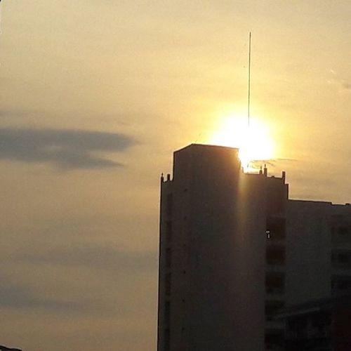 Sunsets Edsa Quezoncity Naturesbeauty Buildings insideMrt Northbound