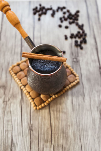 Food And Drink Table Wood - Material Food Still Life Indoors  Freshness No People Close-up Drink High Angle View Cup Refreshment Brown Coffee Coffee - Drink Mug Chocolate Healthy Eating Coffee Cup Cezve Turkish Coffee