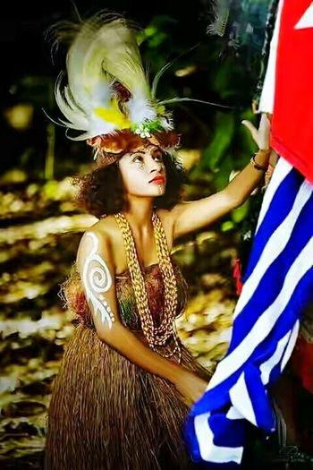 Arts Culture And Entertainment Women Cultures Dancing Only Women Performance Period Costume Uniform Of West Papua Tradition West Papua Girl Coulture Tradition West Papua Tradition West Papua Culture West Papua Women Patriotism Papua Free Of Indonesia Colonial West Papua Flag West Papua Want To Free Of Indonesia Colonial. West Papua Politic Of Freedom Countrylife One Woman Only