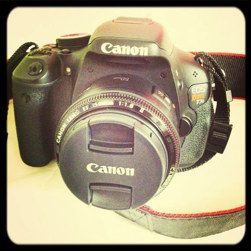my new dslr camera with a cute lens ?❤️ Canont3i 50mm 1.8 Love It