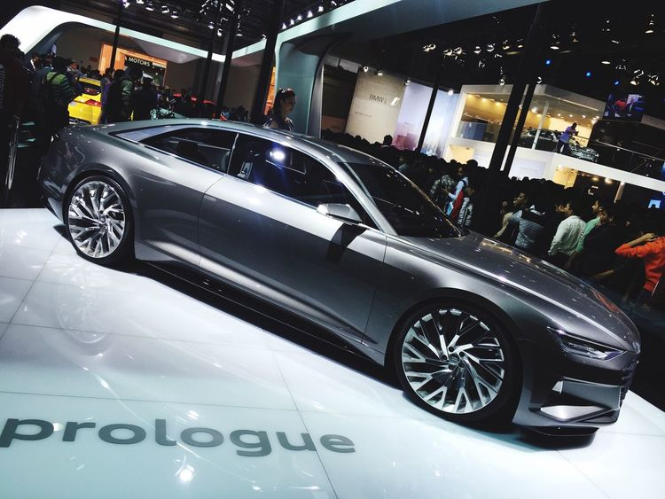 Q Had to wait for an hour Just to see this Prologue ❤️ No regrets Audi always 🙌🏻 Autoexpo2016