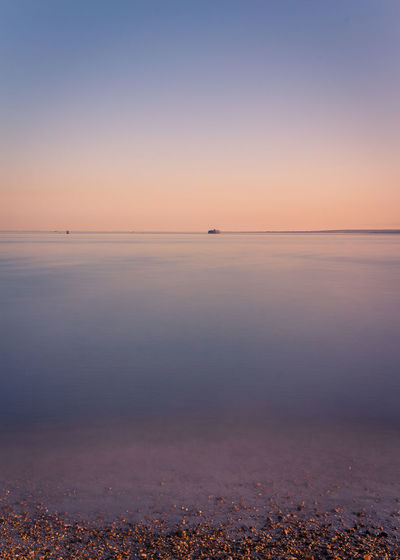 Portsmouth Beach Beauty In Nature Cloud - Sky Dusk Horizon Horizon Over Water Idyllic Land Longexposure Low Tide Nature No People Outdoors Reflection Scenics - Nature Sea Sky Southsea Sunset Tranquil Scene Tranquility Urban Skyline Water