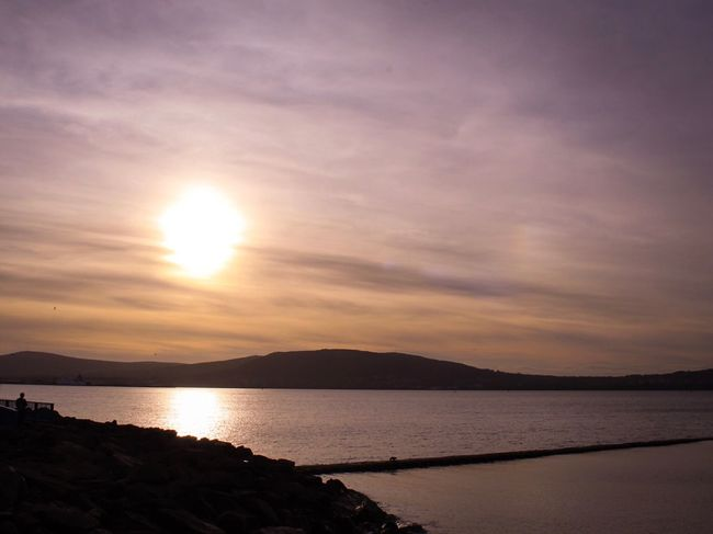 Sunset over Cavehill at Seapark Co Down, Holywood, Belfast Lough, Northern Ireland, Sunset Scenics Sky Beauty In Nature Nature Tranquil Scene Sun Tranquility No People Cloud - Sky Mountain Outdoors Water Landscape Sea Day Art Is Everywhere Break The Mold Break The Mold