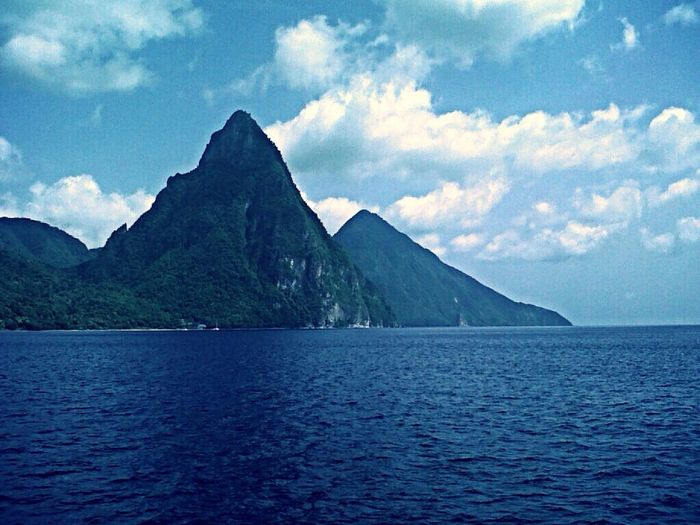 The Pitons of Saint Lucia ❤️ Enjoying The View Nature Taking Photos Caribbean