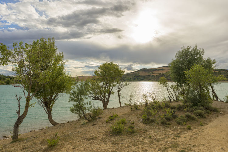 Alloz Beach Beauty In Nature Cloud - Sky Clounds  Day Grass Lake Landscape Mountain Nature Nature Navarra No People Outdoors River Scenics Sky SPAIN Tranquil Scene Tranquility Tree Water