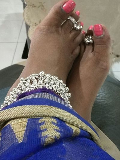 Anklet Toe Ring Silver Jewelery Tamil Culture Marriage  a tamil married women's silver pride adornment. Its called kolusu at the ankle and metti at the toe