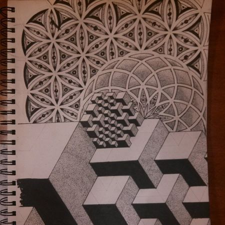 Sacredgeometry Cubes Lines Circles toroid layers dots balance micronsplugedonit love process tattoo love elevated vibes