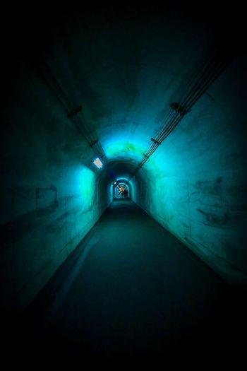 何か見えてきた。 Direction The Way Forward Architecture Illuminated Diminishing Perspective Lighting Equipment Tunnel vanishing point Built Structure No People Light At The End Of The Tunnel Light Light - Natural Phenomenon Electric Light Indoors