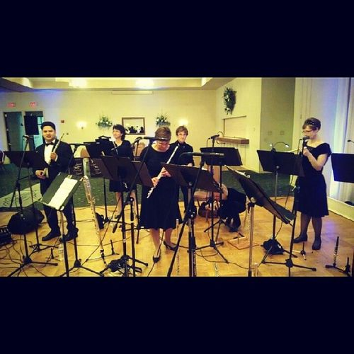 Playing at Castleton! Windhamfluteensemble