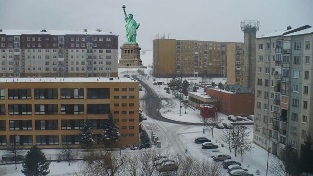 Hanging Out Taking Photos Winter Photo From My Window Statue Of Liberty Bardejov