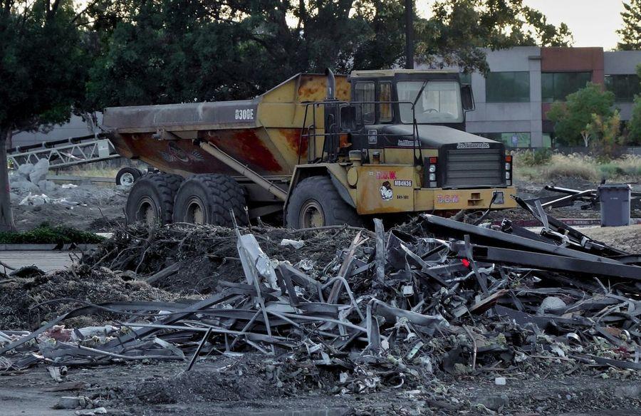 Dump Truck Demolition Zone Demolition