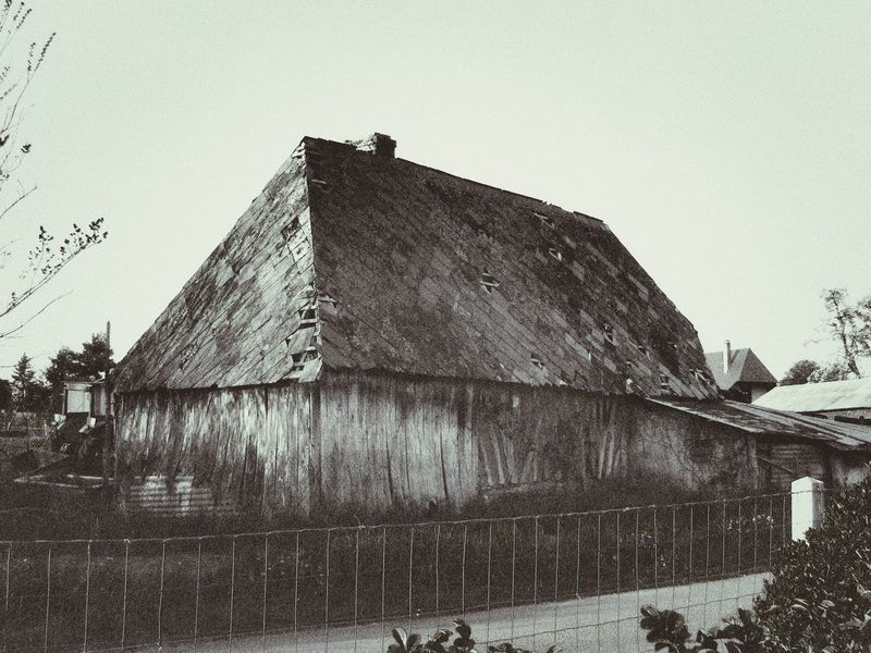 Old Building  Old Shed Dilapidated Agricultural Farm Building Jixipix Black & White Normandy Rural Scene