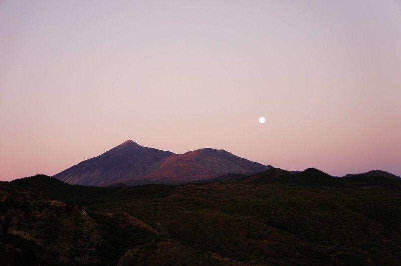 Sunset No People Night Beauty In Nature Outdoors Nature Moon Mountain Landscape Scenics Astronomy Volcano Moon Tenerife Goodnight