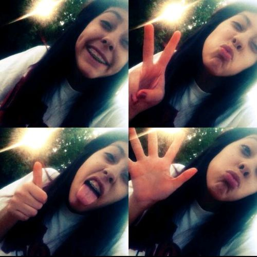 smiling but your not the reason no more! Smiling ^_^ That's Me Peace ∞ Ducklipssss❤