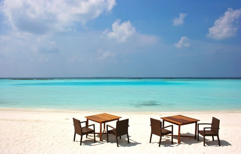 Maldives Travel Lifestyle Beach Landscape This Is Living Dining Ocean View