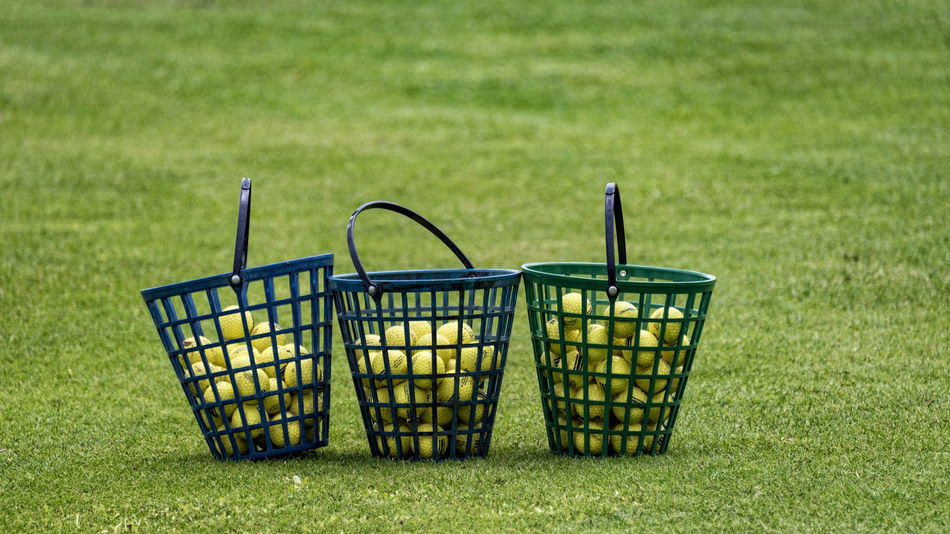 cages Ball Bins Cages Golf GolfBalls Golfcourse Yellow Balls
