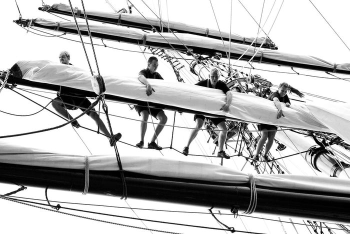 100 Zeiss Backlight Black And White Crew Hanging In The Air Sailer Sailing Ship Sealife Telling Stories Differently Workers