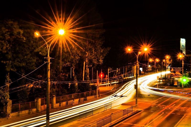Speed Illuminated Night Transportation Motion Light Trail Long Exposure Blurred Motion Street Light Traffic Road City Life City No People Bridge - Man Made Structure Outdoors Architecture High Street Sky Lightroom 5  EyeEmNewHere The Week On EyeEm