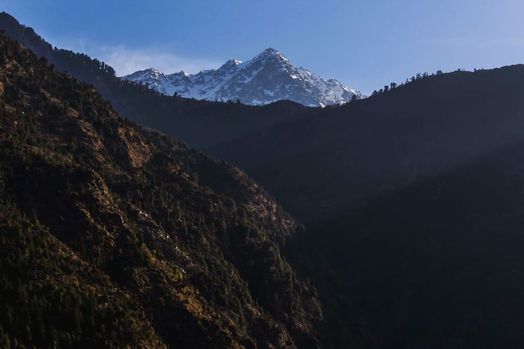Goodmorning :) Landscape Mountain Mountain Range Forest Hiking Travel Mountain Peak Travel Destinations Outdoors Scenics Cold Temperature Beauty In Nature Snow Sky Tree DharamshalaDiaries